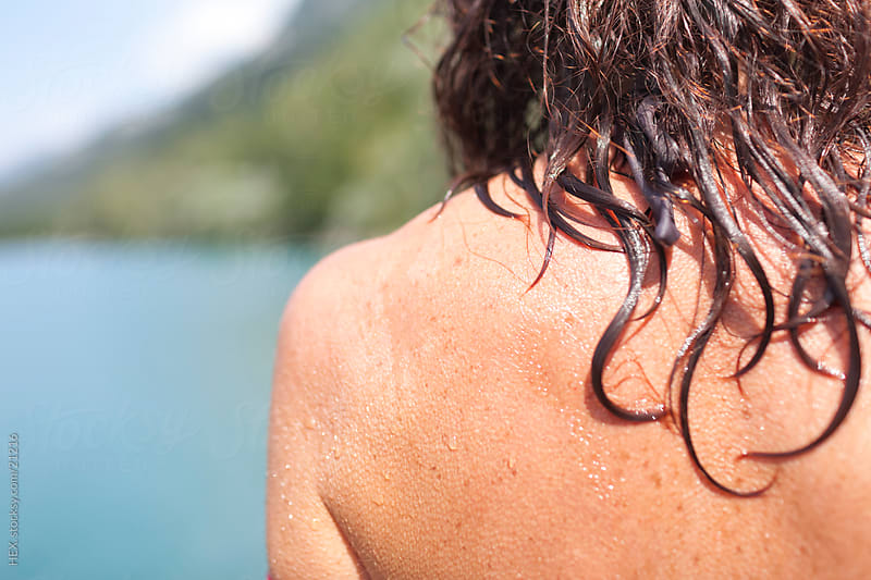 Wet Back and Hair.Summer  by HEX. for Stocksy United