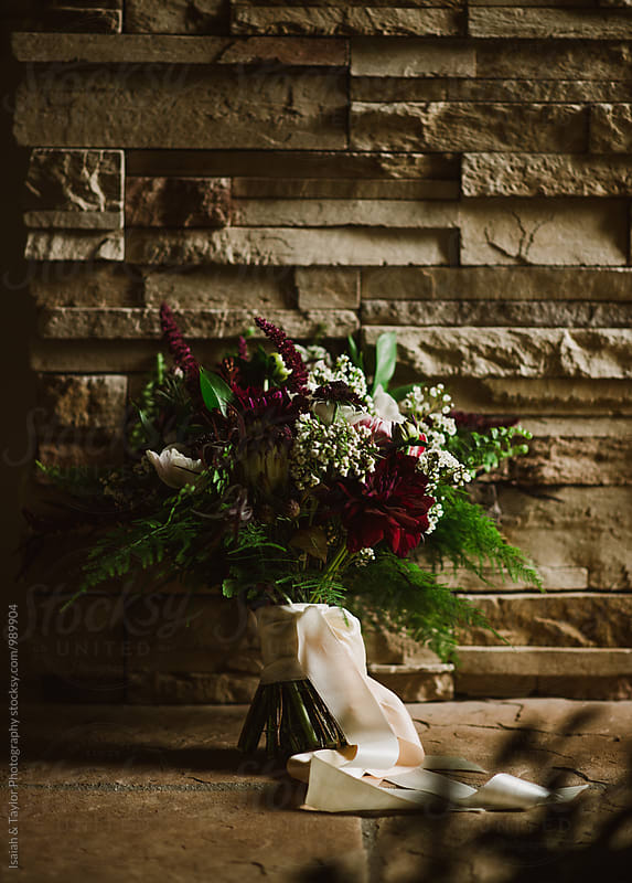 Bridal bouquet by Isaiah & Taylor Photography for Stocksy United