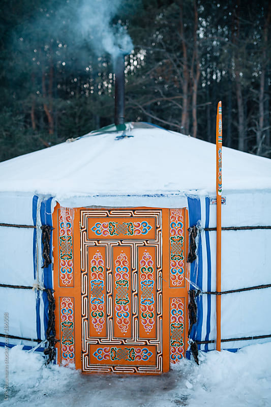 Winter Yurt by Erik Naumann for Stocksy United