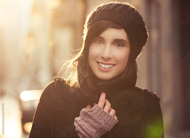 Smiling Woman Outdoors by Lumina for Stocksy United