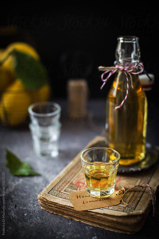 Home-made limoncello by Federica Di Marcello for Stocksy United