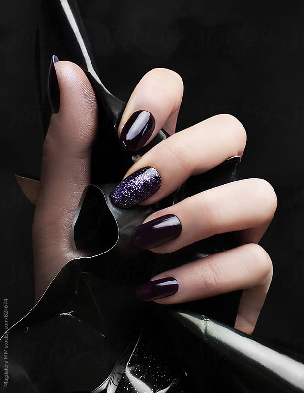 Manicure on black by Magdalena MM for Stocksy United