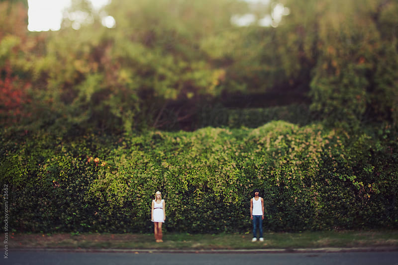Far Away Neighborhood Couple by Kevin Russ for Stocksy United