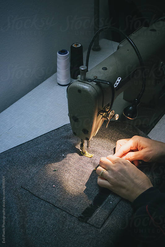 sewing process by Evil Pixels Photography for Stocksy United