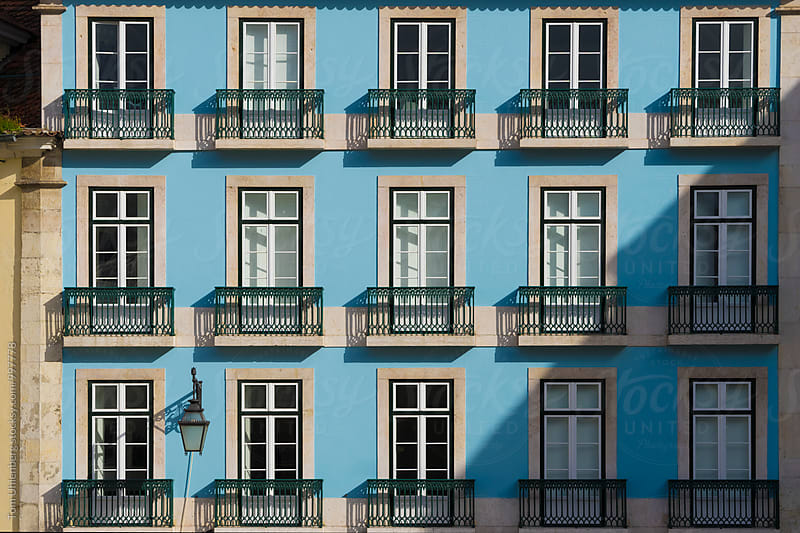 Typical House Facade in Downtown Lisbon, Portugal by Tom Uhlenberg for Stocksy United