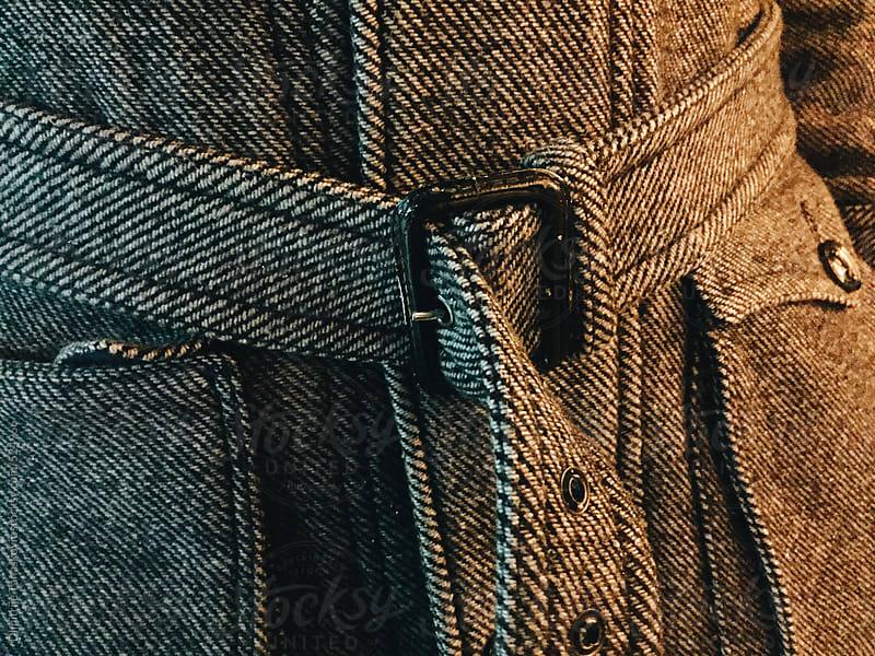Men's woolen coat detail by Dimitrije Tanaskovic for Stocksy United