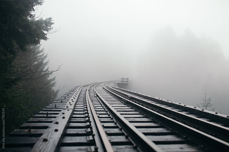 Foggy Second Trestle by Kim Jay for Stocksy United