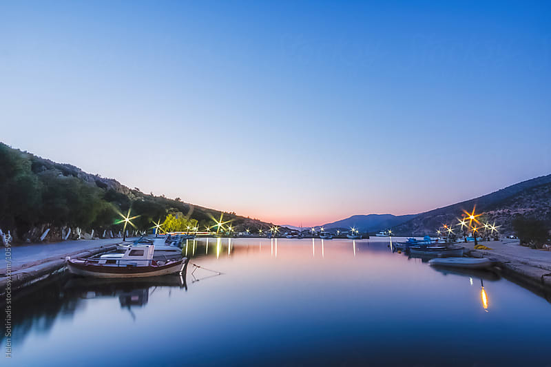 Greek Fishing Village Marina by Helen Sotiriadis for Stocksy United