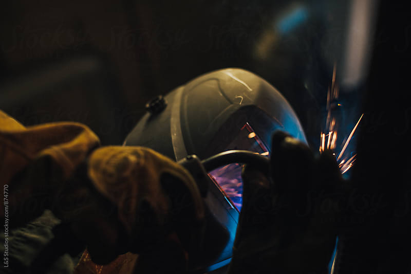Welder In Action by L&S Studios for Stocksy United