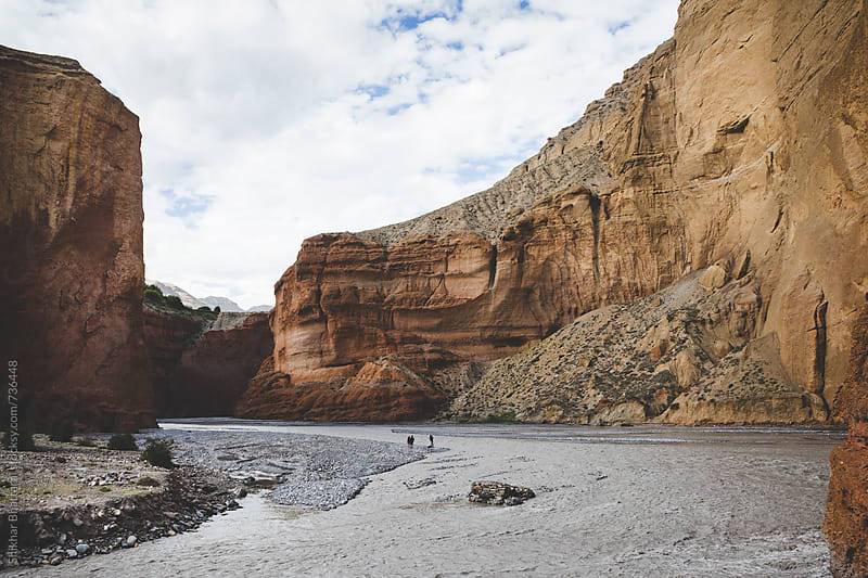 Canyons of Upper Mustang and the Kali Gandaki River. by Shikhar Bhattarai for Stocksy United