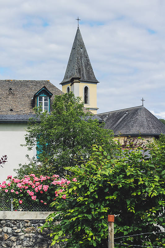 View of a picturesque village in Aquitaine, France by Luca Pierro for Stocksy United