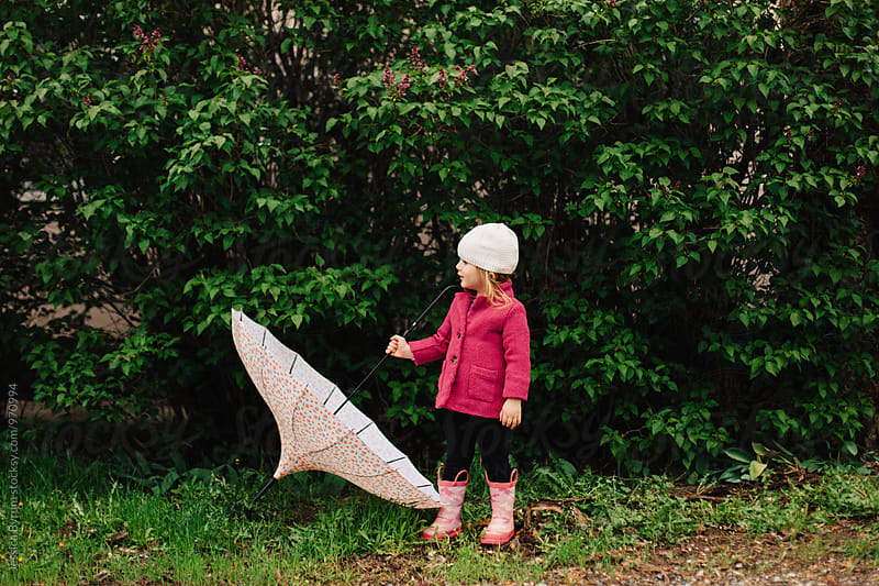 Umbrellas Are Hard by Jessica Byrum for Stocksy United