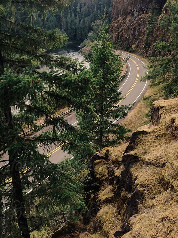 Curved Mountain Road by Kevin Russ for Stocksy United