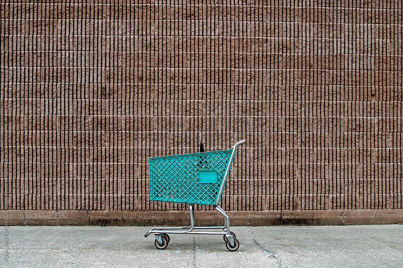 Green Shopping Cart by Raymond Forbes LLC for Stocksy United