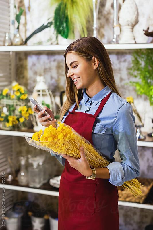 Flower store. by BONNINSTUDIO for Stocksy United
