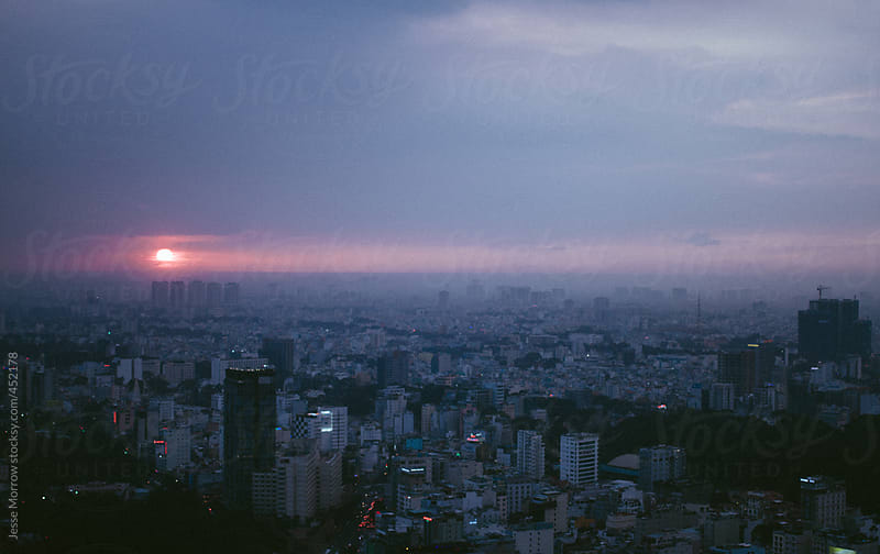 Saigon skyline ho chi minh city vietnam by Jesse Morrow for Stocksy United
