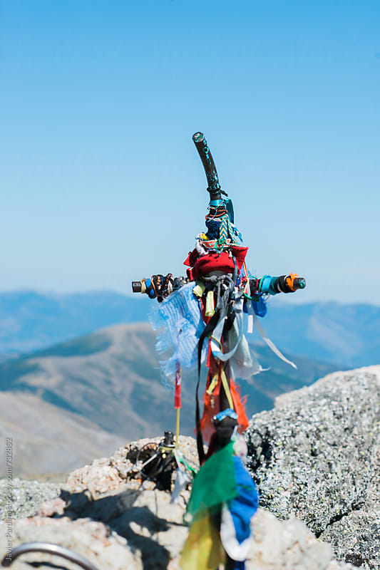 cross on the top of the mountain by Javier Pardina for Stocksy United