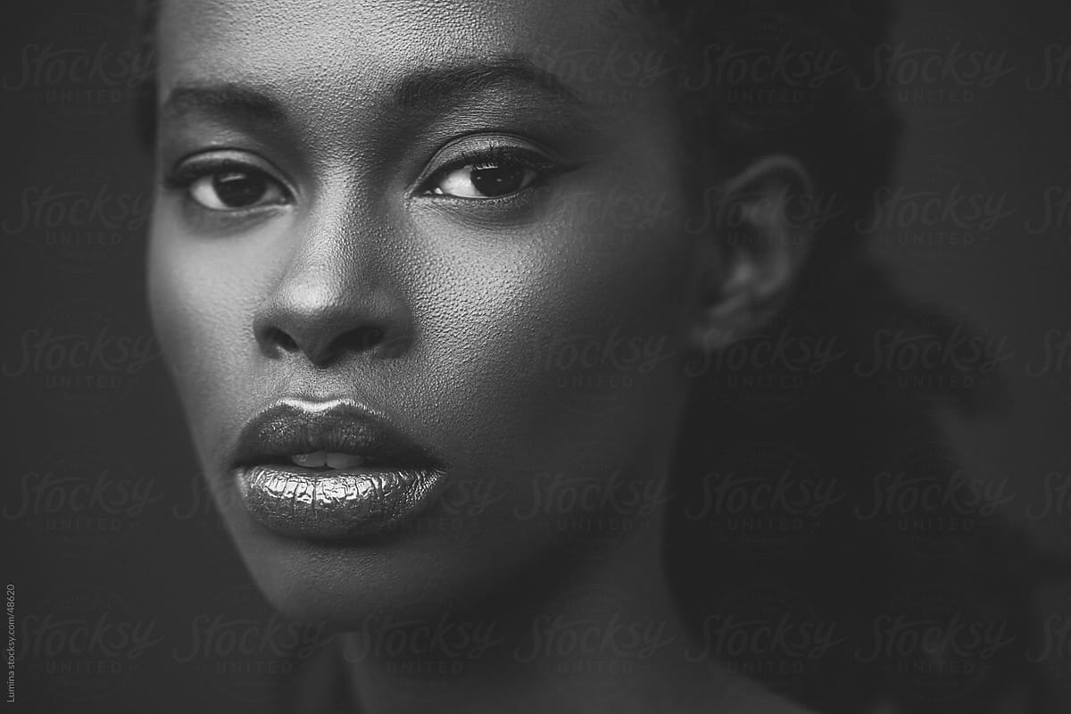 African woman in black and white by lumina for stocksy united