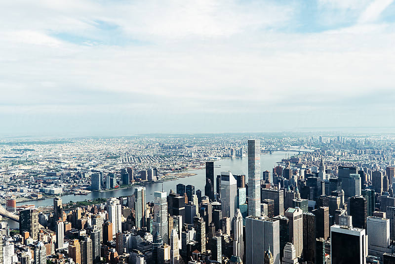 New York from Above by Jorge Quinteros for Stocksy United