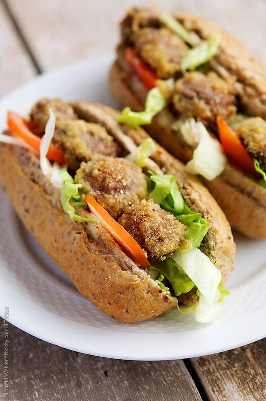 Mushroom Po' Boy Sandwich by Harald Walker for Stocksy United