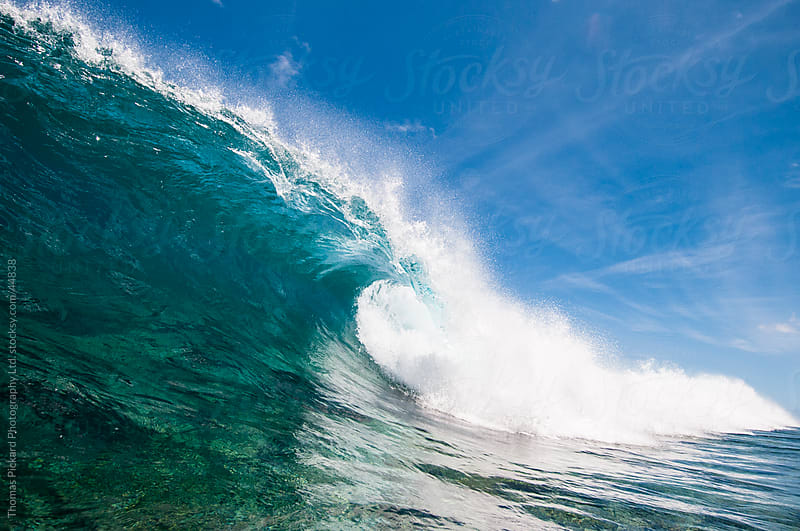 Wave breaking over reef, Rarotonga, Cook Islands. by Thomas Pickard Photography Ltd. for Stocksy United
