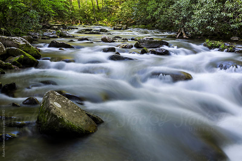Oconaluftee River Rapids by Adam Nixon for Stocksy United