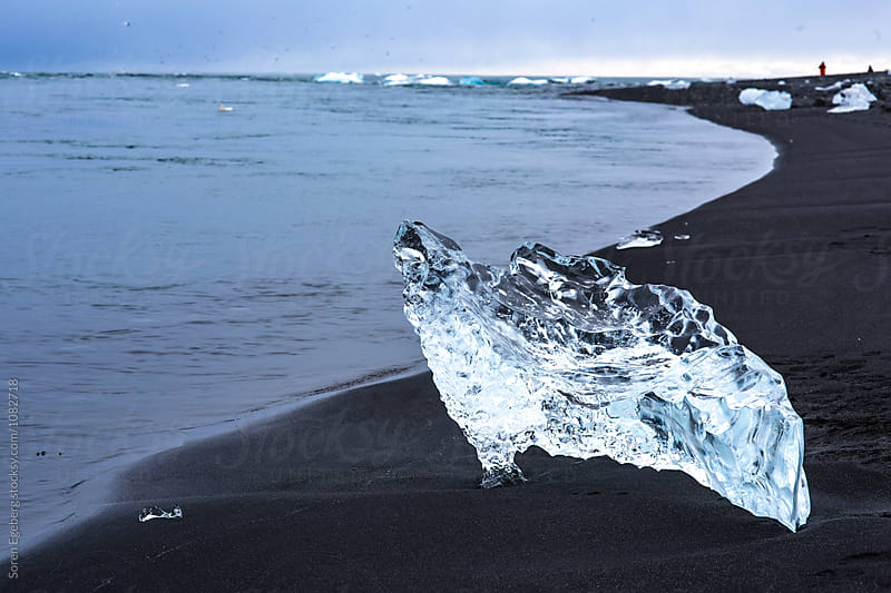 Clear ice in Glacier lagoon in Iceland by Soren Egeberg for Stocksy United