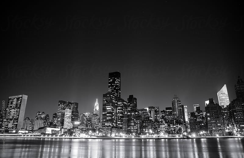 New York City at Night by Vivienne Gucwa for Stocksy United