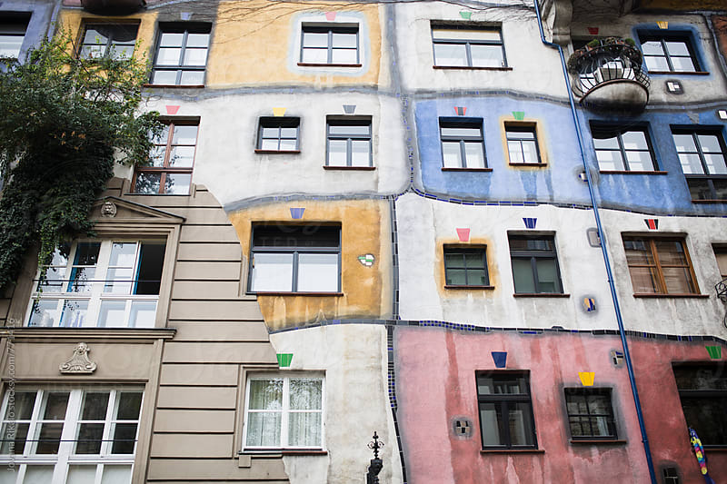 Colorful building by Jovana Rikalo for Stocksy United