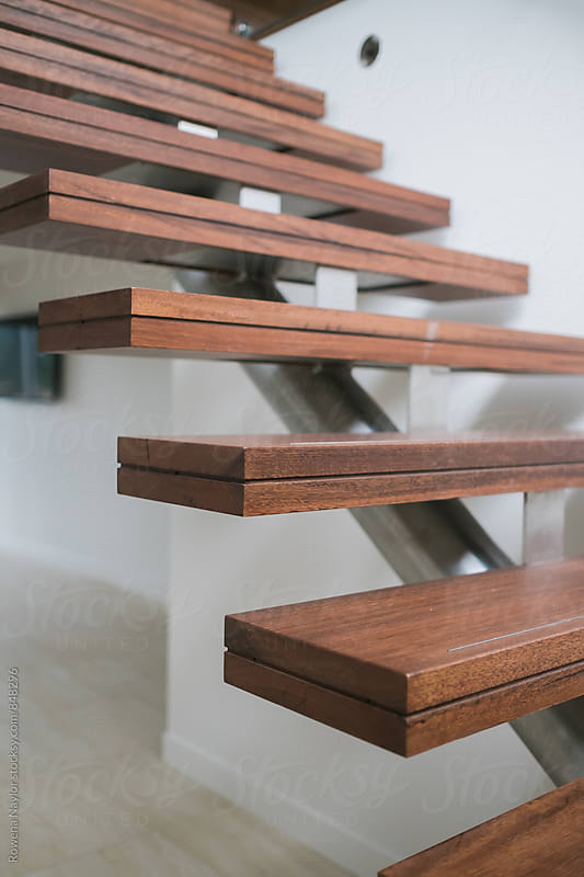 Floating staircase by Rowena Naylor for Stocksy United