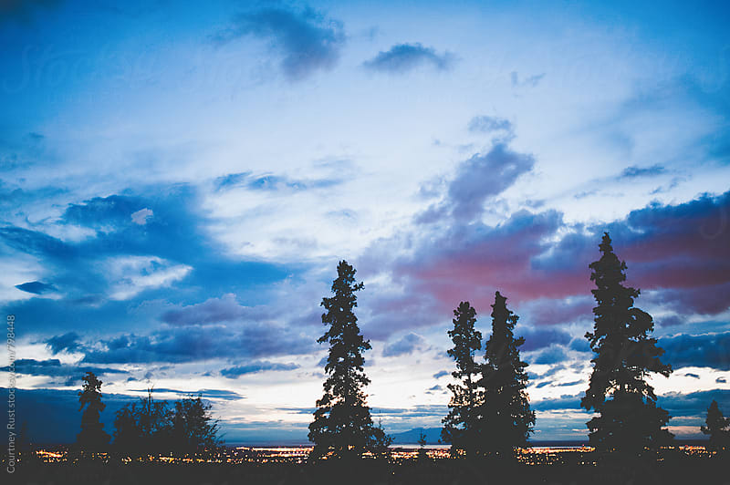 Purple Alaskan Sky by Courtney Rust for Stocksy United