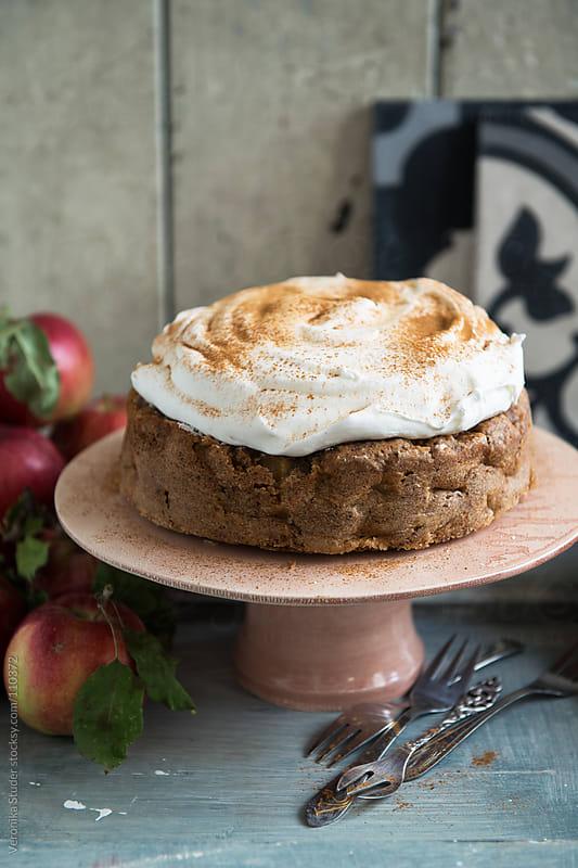 Apple tea cake by Veronika Studer for Stocksy United