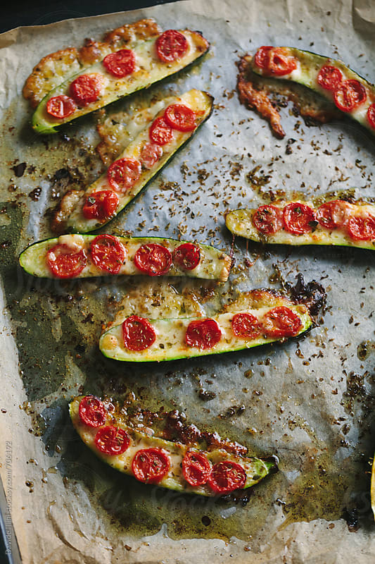 Stuffed zucchini by Davide Illini for Stocksy United