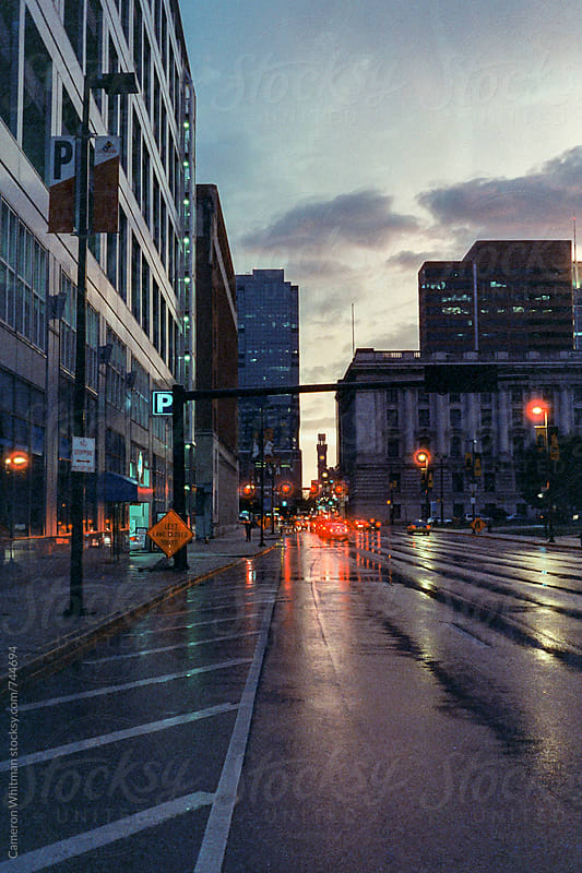 Downtown Baltimore After Heavy Rains by Cameron Whitman for Stocksy United