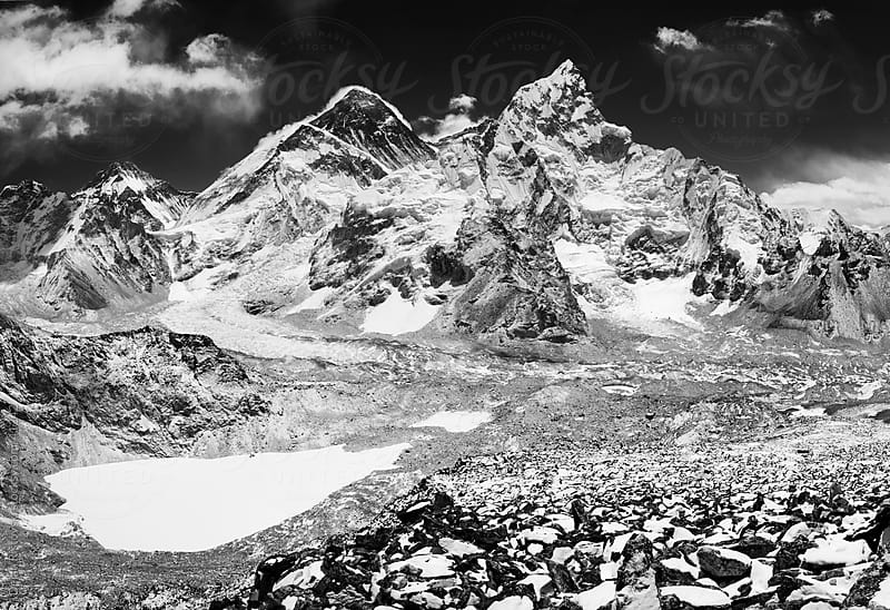 Mount Everest, Lhotse and Nuptse from Kala Pathar by Dejan Ristovski for Stocksy United