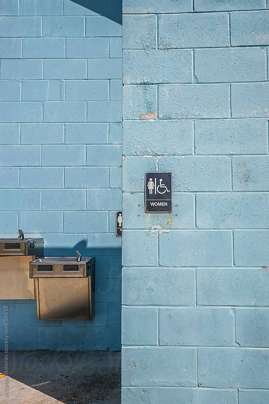 Public Restroom at the Park by suzanne clements for Stocksy United