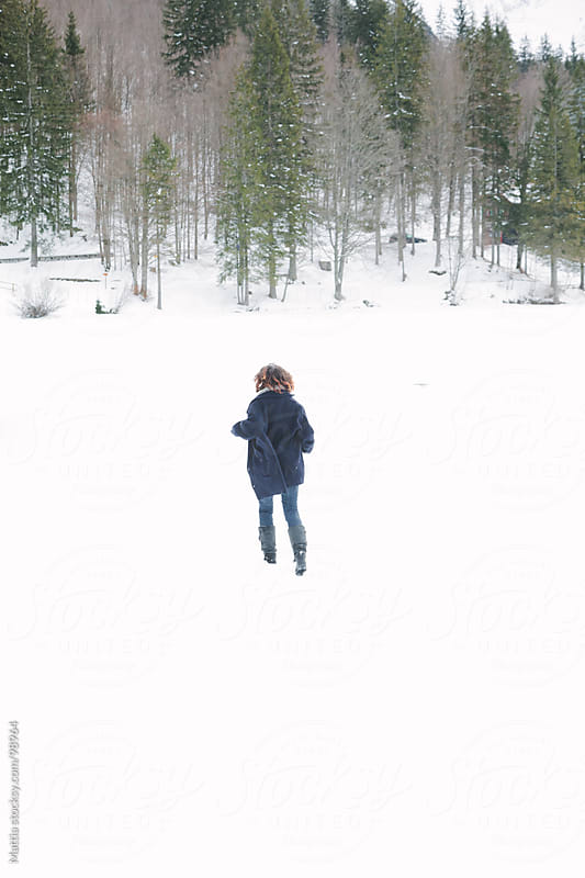 Woman Play With Snow by HEX. for Stocksy United