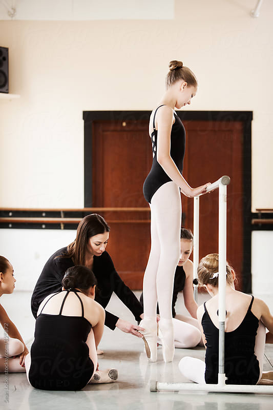 Ballet: Class Watches Teaches Show Positioning by Sean Locke for Stocksy United