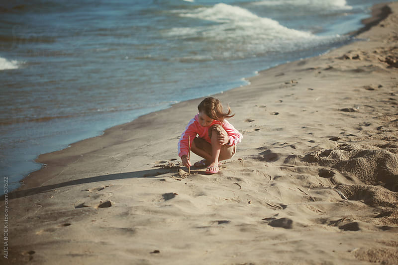 Drawing in the Sand by ALICIA BOCK for Stocksy United