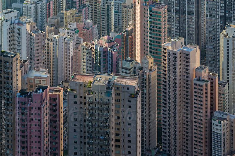 Living in Hong Kong - Residential Highrises on Hong Kong Island by Tom Uhlenberg for Stocksy United