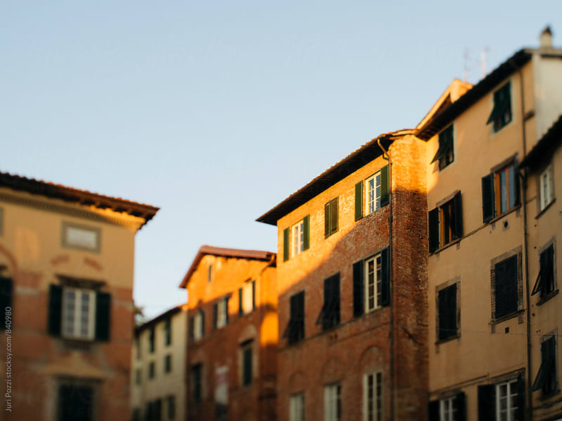 view of Lucca city in Tuscany by Juri Pozzi for Stocksy United