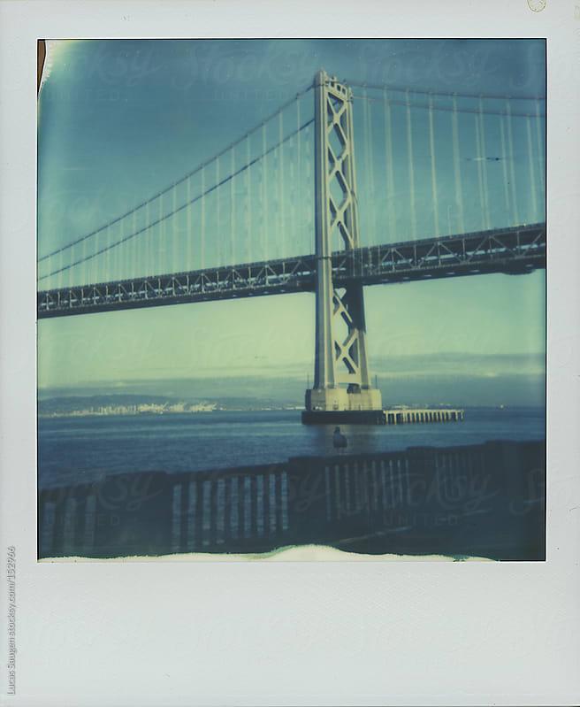 Polaroid of the San Francisco Bay Bridge by Lucas Saugen for Stocksy United