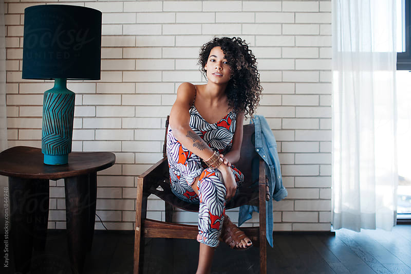 Beautiful woman looking at camera by Kayla Snell for Stocksy United