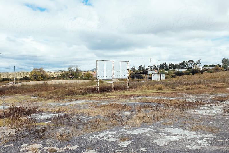 Landscape (Back of a Billboard) by Victor Deschamps for Stocksy United