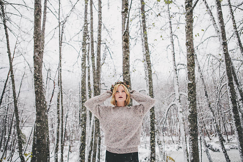 First Snowfall by Bethany Olson for Stocksy United