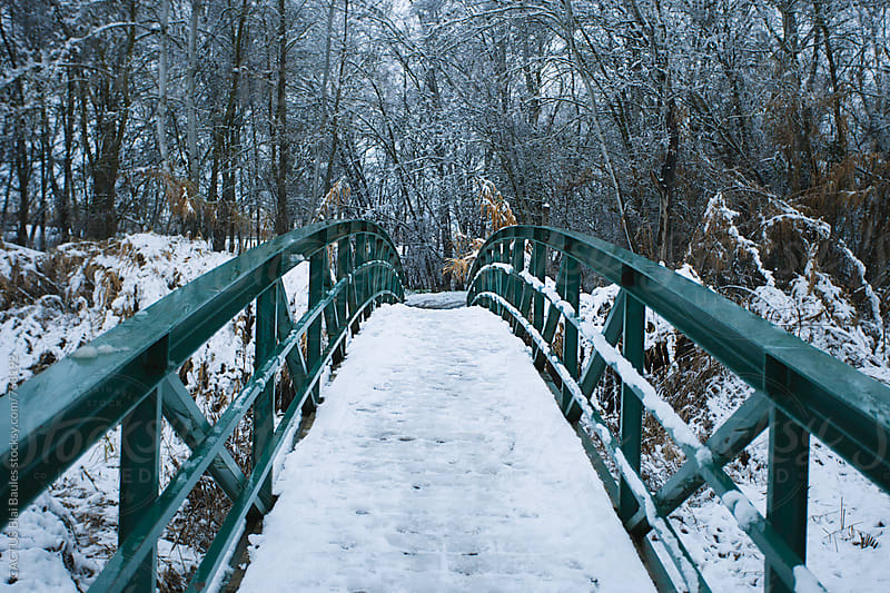 Snowed bridge by CACTUS Blai Baules for Stocksy United
