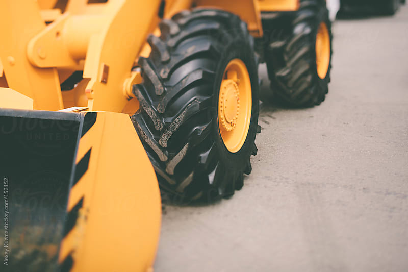 Parked dozer by Alexey Kuzma for Stocksy United