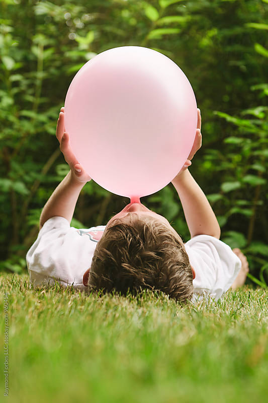 Pink Balloon by Raymond Forbes LLC for Stocksy United