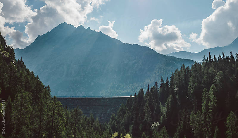 Dike in the mountain by GIC for Stocksy United