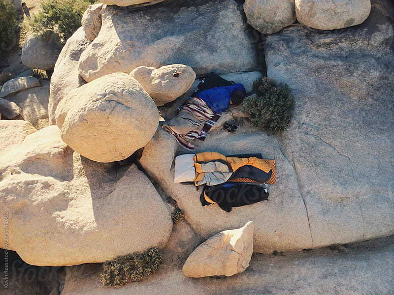 Camping on Rocks in the Morning by Kevin Russ for Stocksy United